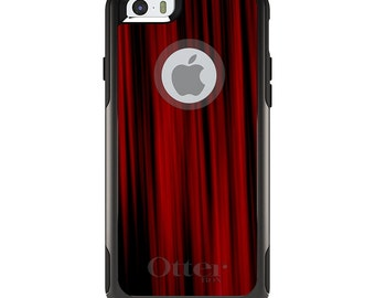 OtterBox Commuter for Apple iPhone 5S SE 5C 6 6S 7 8 PLUS X 10 - Custom Monogram - Any Colors - Bright Red Curtains