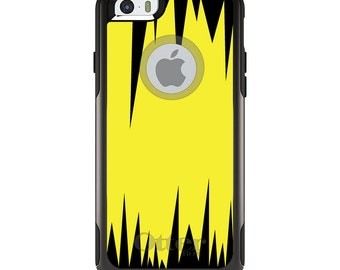 OtterBox Commuter for Apple iPhone 5S SE 5C 6 6S 7 8 PLUS X 10 - Custom Monogram - Any Colors - Yellow Black Spikes