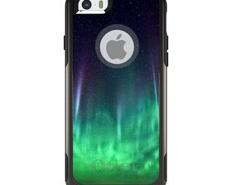 OtterBox Commuter for Apple iPhone 5S SE 5C 6 6S 7 8 PLUS X 10 - Custom Monogram - Any Colors - Aurora Borealis Northern Lights