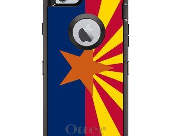 CUSTOM OtterBox Defender Case for Apple iPhone 6 6S 7 8 PLUS X 10 - Personalized Monogram - Arizona State Flag
