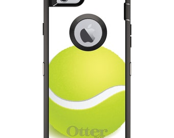 CUSTOM OtterBox Defender Case for Apple iPhone 6 6S 7 8 PLUS X 10 - Personalized Monogram - Green Tennis Ball
