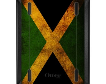 Custom OtterBox Defender for Apple iPad 2 3 4 / Air 1 2 / Mini 1 2 3 4 - CUSTOM Monogram - Jamaica Old Flag
