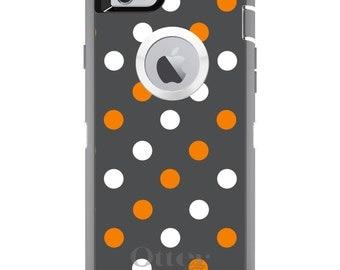 Custom OtterBox Defender Case for Apple iPhone 6 6S 7 8 PLUS X 10 - Monogram - Tennessee UT Volunteers Vols Colors-Polka Dots Pattern