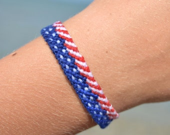 4th July USA bracelet American flag jewelry Patriotic Memorial Day jewelry United States Friendship bracelets Independence Day gift America