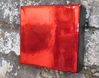 red decor, metallic art, red art, modern canvas art, wall art.large canvas painting