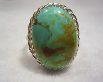Turquoise Sterling Silver Ring - Tom Nugent