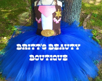 Inspired by Sheriff Callie Tutu Dress/Costume/Halloween/Pageant Wear/Infant/Toddler/Girl