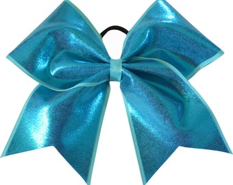Turquoise Blue Mystique Cheer Bow