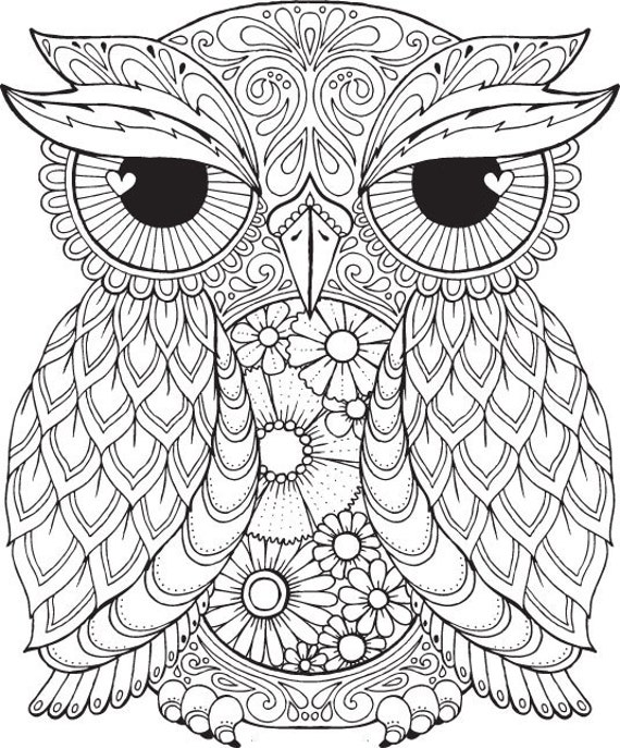 Owl Coloring Pages Pdf : Seth owl colour with me hello angel by helloangelcreative
