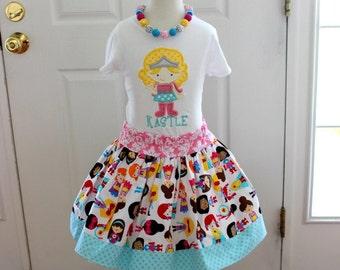 girl super hero birthday outfit girls superhero birthday skirt set