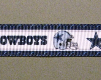 "Sale!!! DALLAS COWBOYS 7/8"" Grosgrain Craft Ribbon - 3-Yard Length"