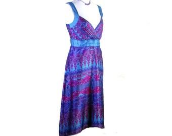 20% OFF SUMMER DRESS!  V-Neck Dress, Summer Dress, Mid length dress, Sleeveles dress, Silky v-neck dress, retro dress, Silky summer dress