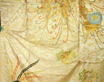 Japanese wedding kimono, vintage 1930 magnificent Reduced from 600  wk8