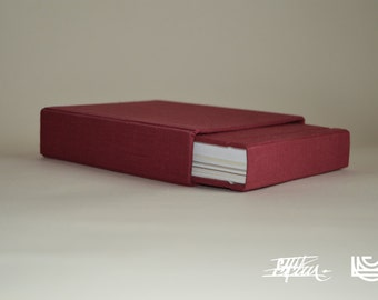 handmade card notebook in red with cover