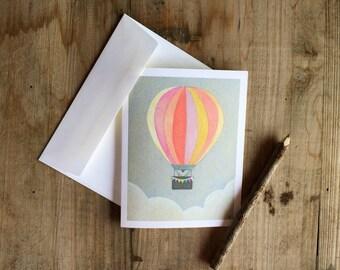 Hot Air Balloon: Blank Stationery