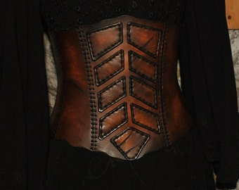 leather corset LARP