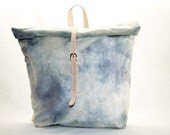 Poppy Waxed Canvas Roll Top Knapsack-Above the Clouds