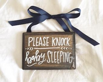 Custom Wood Sign - Baby Sleeping