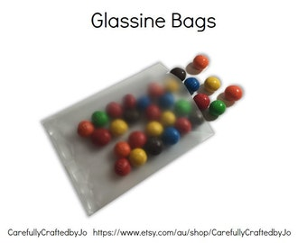 Set of 25, 50 - Glassine Bags - 8.5cm x 11cm - Frosted Bag, Plastic Packaging