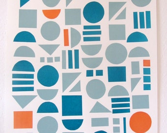 Large Geometric Screen Print