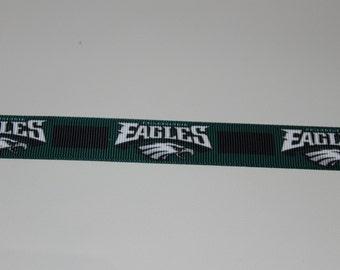 """7/8"""" Grosgrain Philadelphia Eagles Ribbon"""