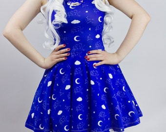 Celestial Skater Dress - Available in sizes XS - 3XL