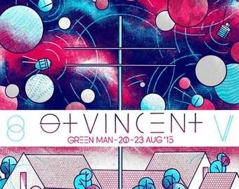 St.Vincent - Green Man Festival 2015 Poster