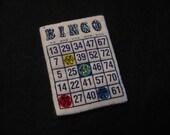 BLINGO BINGO PIN-Swarovski Crystal-Magnetic Wearable Brooch-Grandma's Favorite Gift