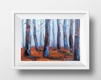 Redwood Tree Print, California Redwoods, Giclee, Giant Sequoia Art, 5x7, 8x10, 11x14, 12x16 Print of Original Oil Painting by Lisa Elley