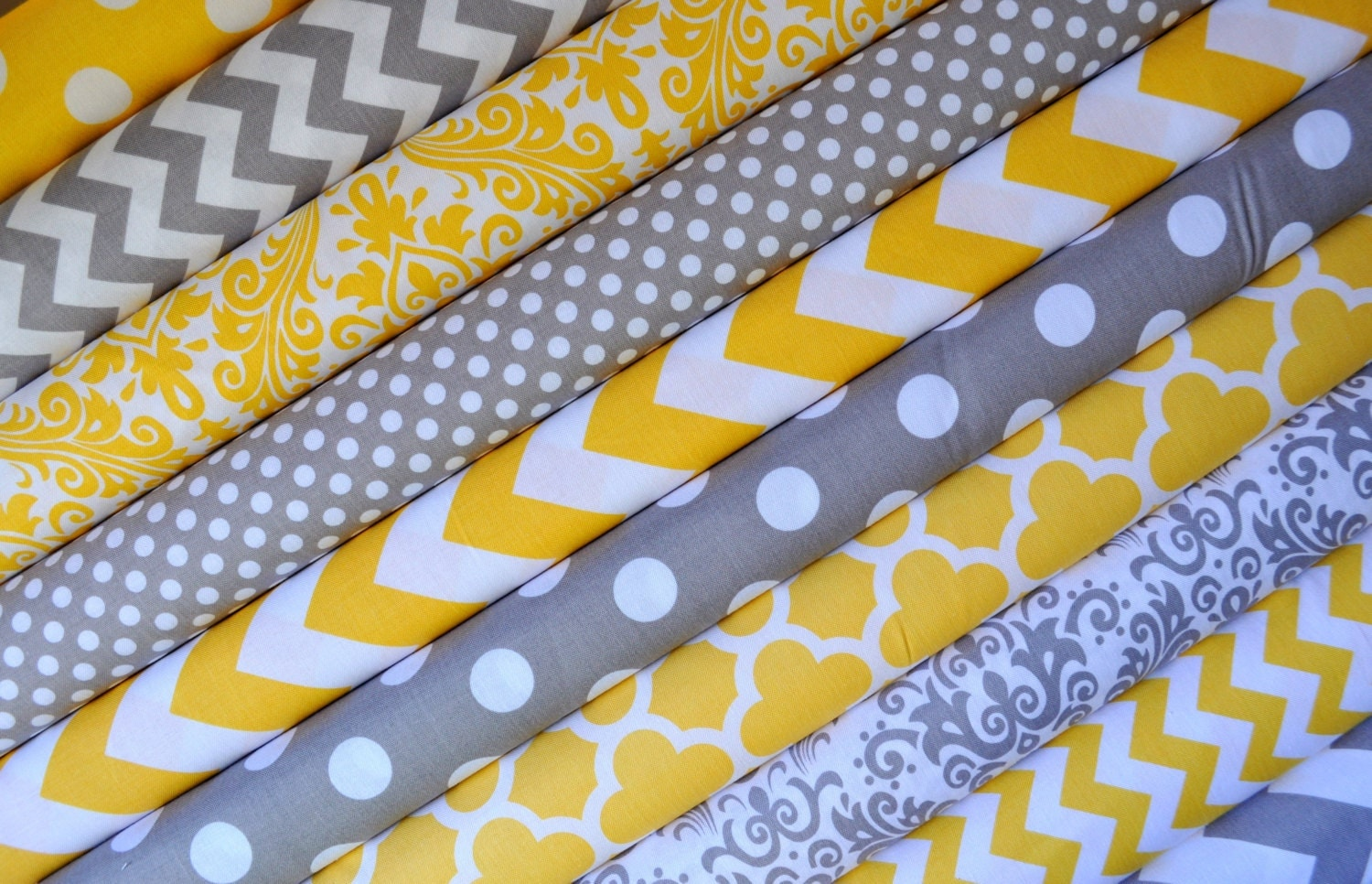 yellow and gray grey fabric bundle of by southernstitchfabric. Black Bedroom Furniture Sets. Home Design Ideas