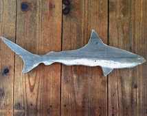 Shark Wall Sign, gift for surfers, beach lovers and Jaws fans
