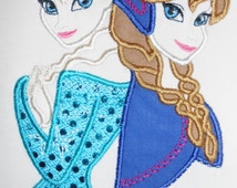 Frozen's Elsa and Anna's Appliqued Shirt