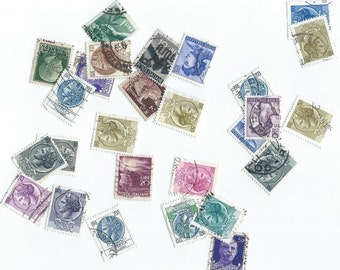 Vintage italian Postage Stamps - Scrapbooking, collage, altered art