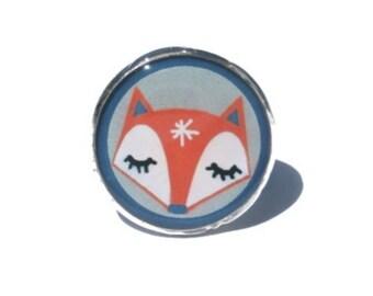 Red Fox Ring - red sleeping fox, Adjustable Animal Ring, Animal Jewelry, Fox Jewelry, Woodland Ring, Woodland Jewelry Ring, fox jewellery