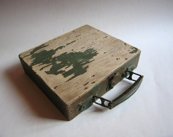 antique military case