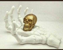 Skeleton hand candle holder, Halloween decor, accessory holder