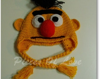 Muppet Hat Crochet Muppet Hat Halloween mask Bert And Ernie Halloween present Sesame Street Accessories Bert Hat Ernie Hat Halloween hat