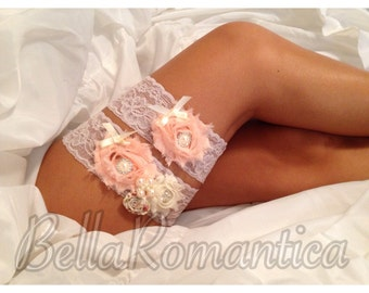 Taupe Wedding Garter - Wedding Garter Set - Bridal Garter