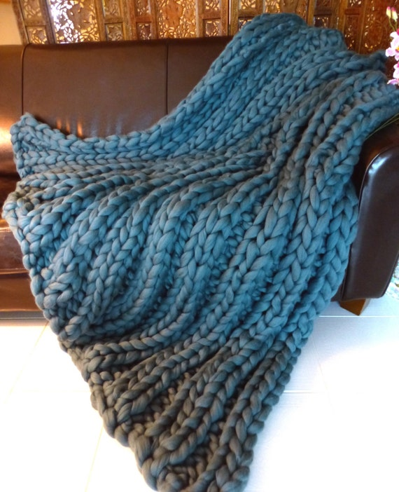 Super Chunky Knit Blanket, Sizes in Stock, Pure Merino Wool, knit blanket, chunky throw,