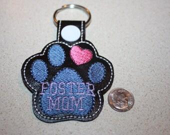 Pet Foster Mom Key Fob