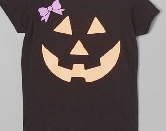 Pumpkin face glitter