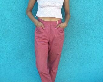 Ralph Lauren Red Checkered Trousers