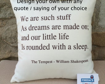 Quote Cushions - choose your own words