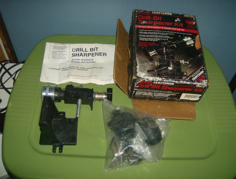 Vintage Sears Craftsman Drill Bit Sharpener W Box