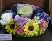 Candle Flower Wreath Woolfelt