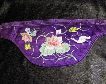 Antique Embroidered Pouch Money Belt Chinese Circa 1900