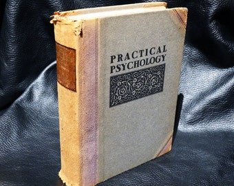 RARE BOOK Roycroft Practical Psychology How to Utilize Your Mind 1921 Half Leather