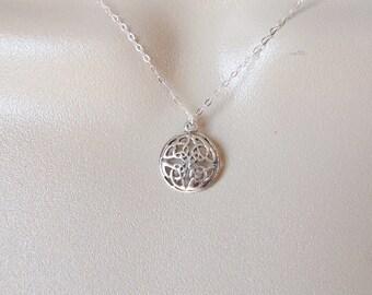 Celtic Knot Necklace - Silver Celtic Knot Necklace - Sterling Silver Celtic Necklace - Small Sterling Necklace - Sterling Silver Jewelry