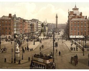 Sackville Street and O'Connell Bridge, Dublin. County Dublin, Ireland] -Photo Print