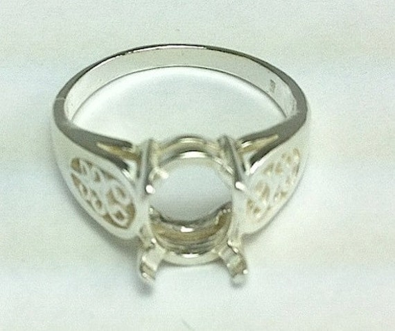 sterling silver oval filigree ring setting for 1